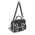 Graffiti Black Chubby Satchel - JumpFromPaper