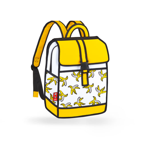 Banana Printed Yellow Backpack - JumpFromPaper
