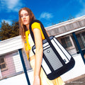 Black Stripe Tote - JumpFromPaper