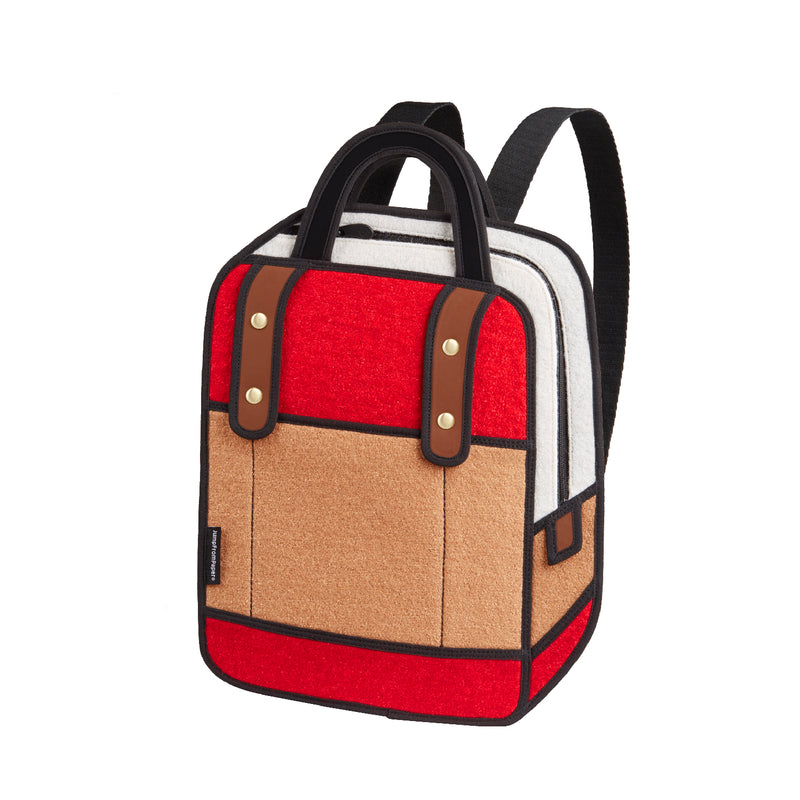 Woolen Red Backpack - JumpFromPaper