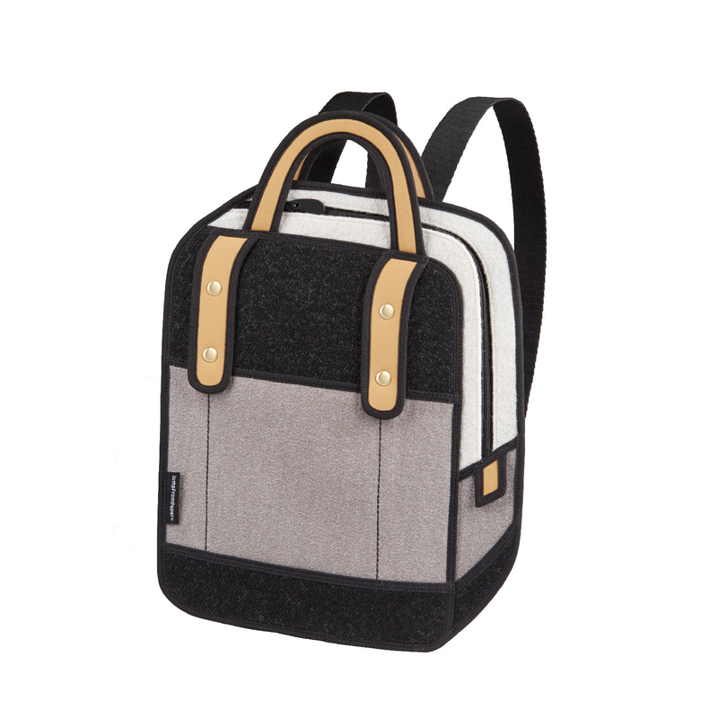 Woolen Grey Backpack