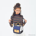Outer Blue Stripe Handbag - JumpFromPaper