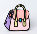 Pink Owl bag / Metal Chain Bag