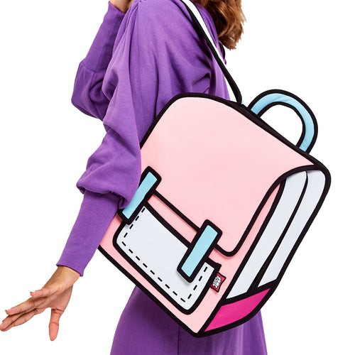 Neon Pink Spaceman Backpack