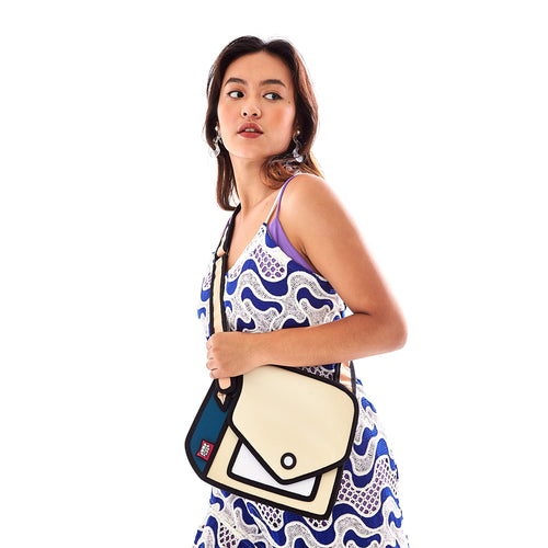 Giggle Beige Shoulder Bag