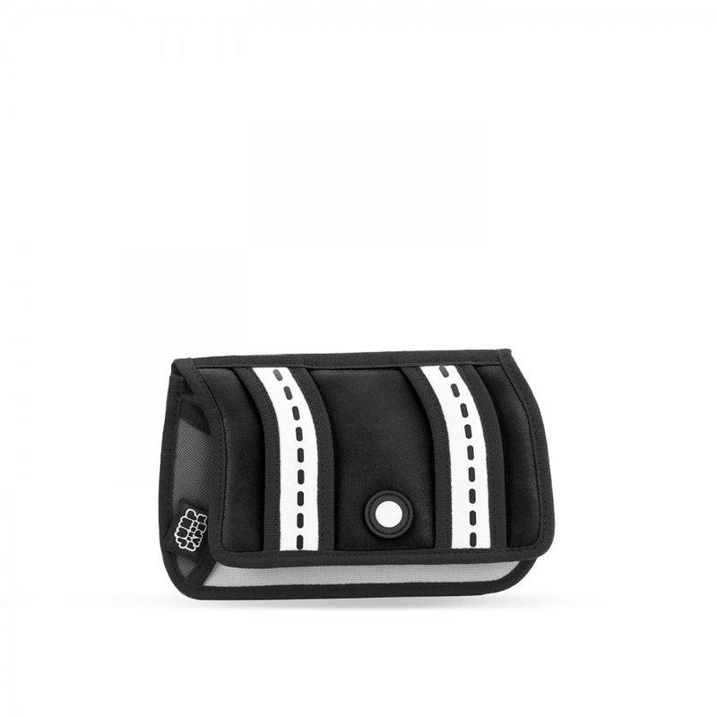 Black Stripe Pouch - JumpFromPaper