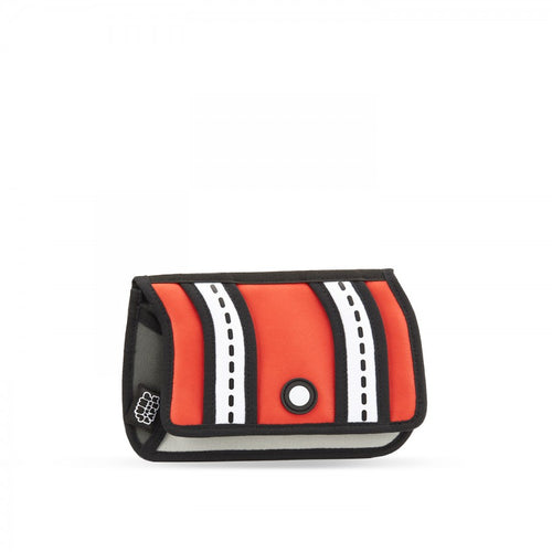 Red Stripe Pouch - JumpFromPaper