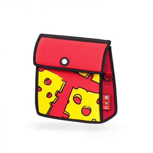 Cheese Printed  Red Shoulder Bag - JumpFromPaper