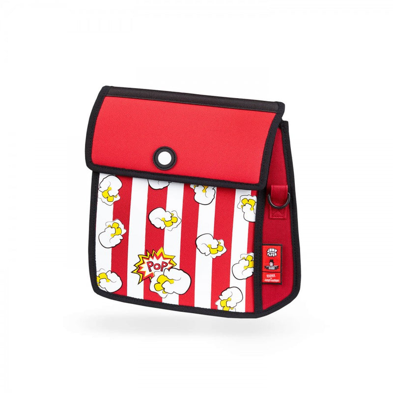 Popcorn Printed  Red Shoulder Bag - JumpFromPaper