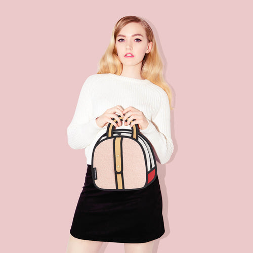 Woolen Small Handbag - Pink