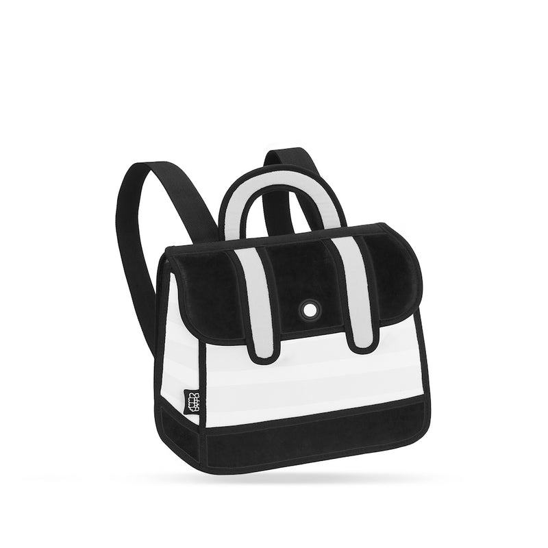 Black Stripe Backpack - JumpFromPaper