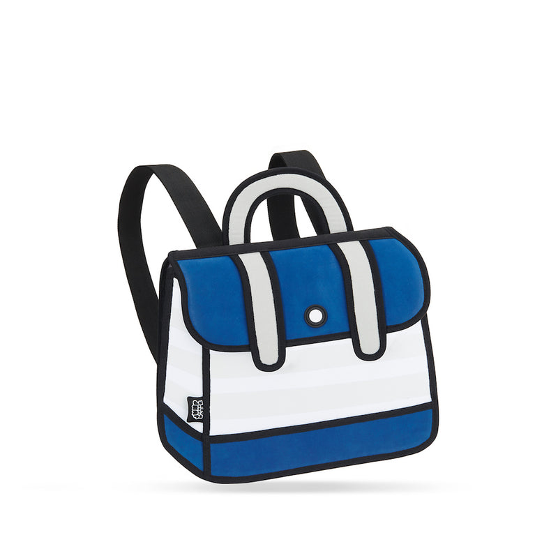 Blue Stripe Backpack - JumpFromPaper