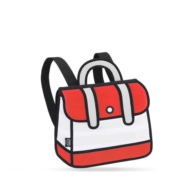 Red Stripe Backpack - JumpFromPaper