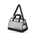 Black Stripe Travel Shoulder Bag - JumpFromPaper