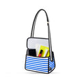 Blue Stripe Shoulder Bag - JumpFromPaper