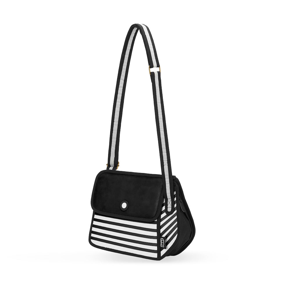 5ead4494066f 2D Bag Stripe Black Shoulder Bag | JumpFromPaper Cartoon Bag