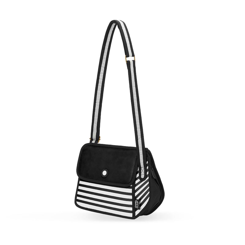 Black Stripe Shoulder Bag - JumpFromPaper