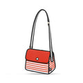 Red Stripe Shoulder Bag - JumpFromPaper