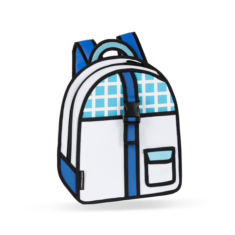 Blue Checked Backpack - JumpFromPaper