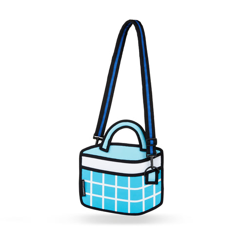 Blue Checked Handbag - JumpFromPaper
