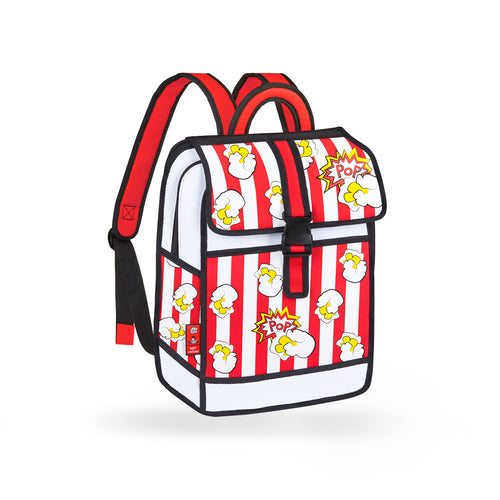 Popcorn Printed Red Backpack - JumpFromPaper