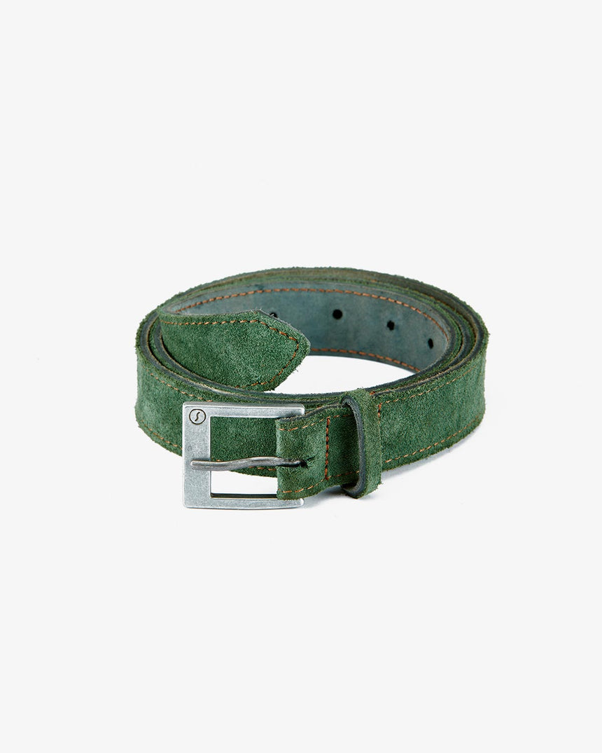 BELT | Green Suede