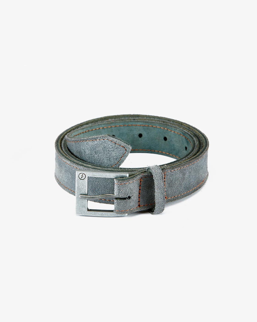 BELT | Grey Suede
