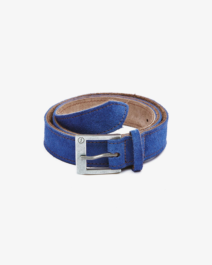 BELT | Navy Suede