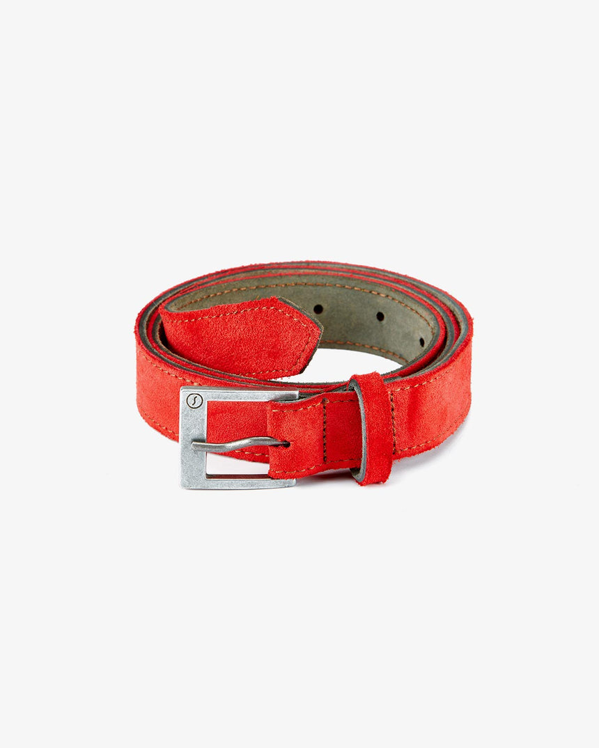 BELT | Red Suede
