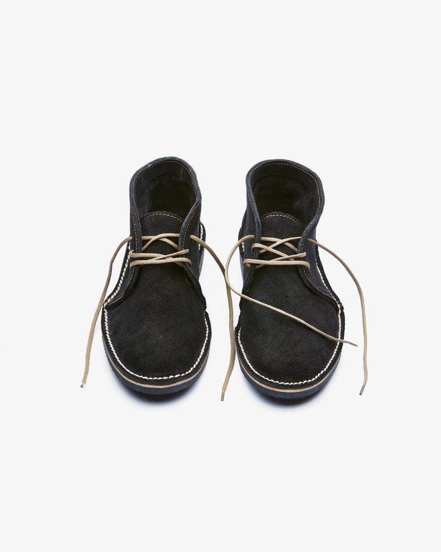 LEONIE | High-Top Black Suede