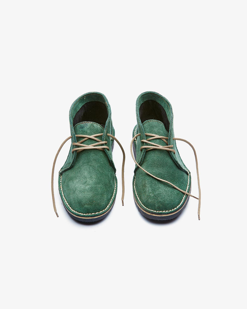 LEONIE | High-Top Green Suede