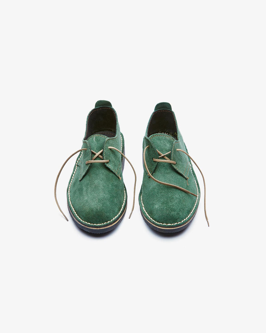 LEONIE | Low-Cut Green Suede