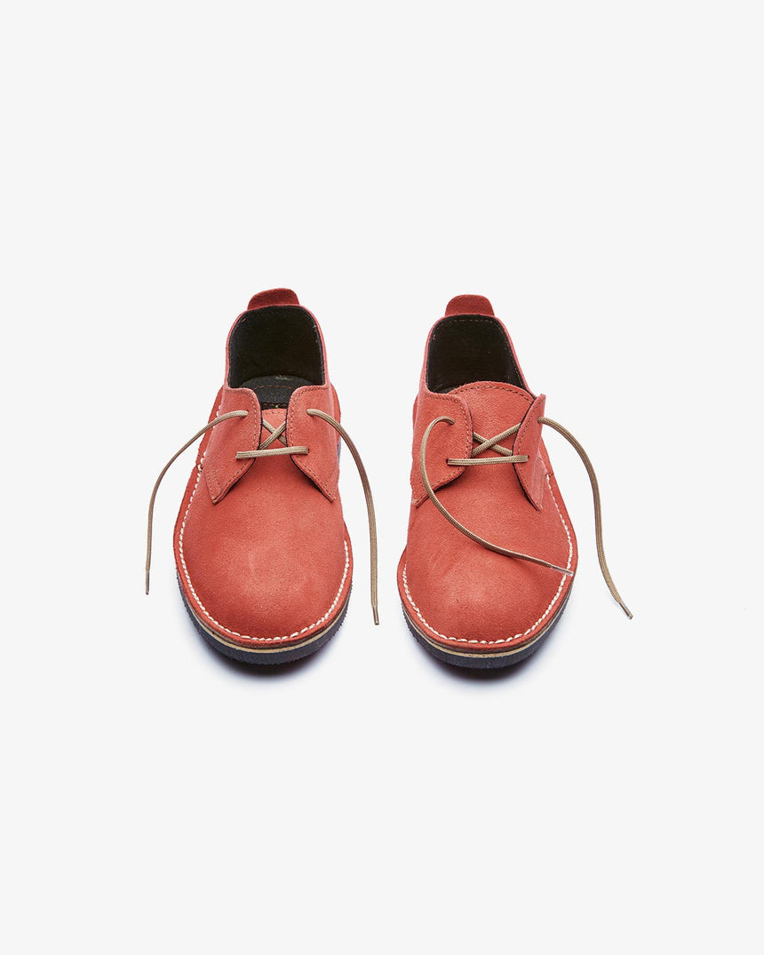 LEONIE | Low-Cut Red Suede