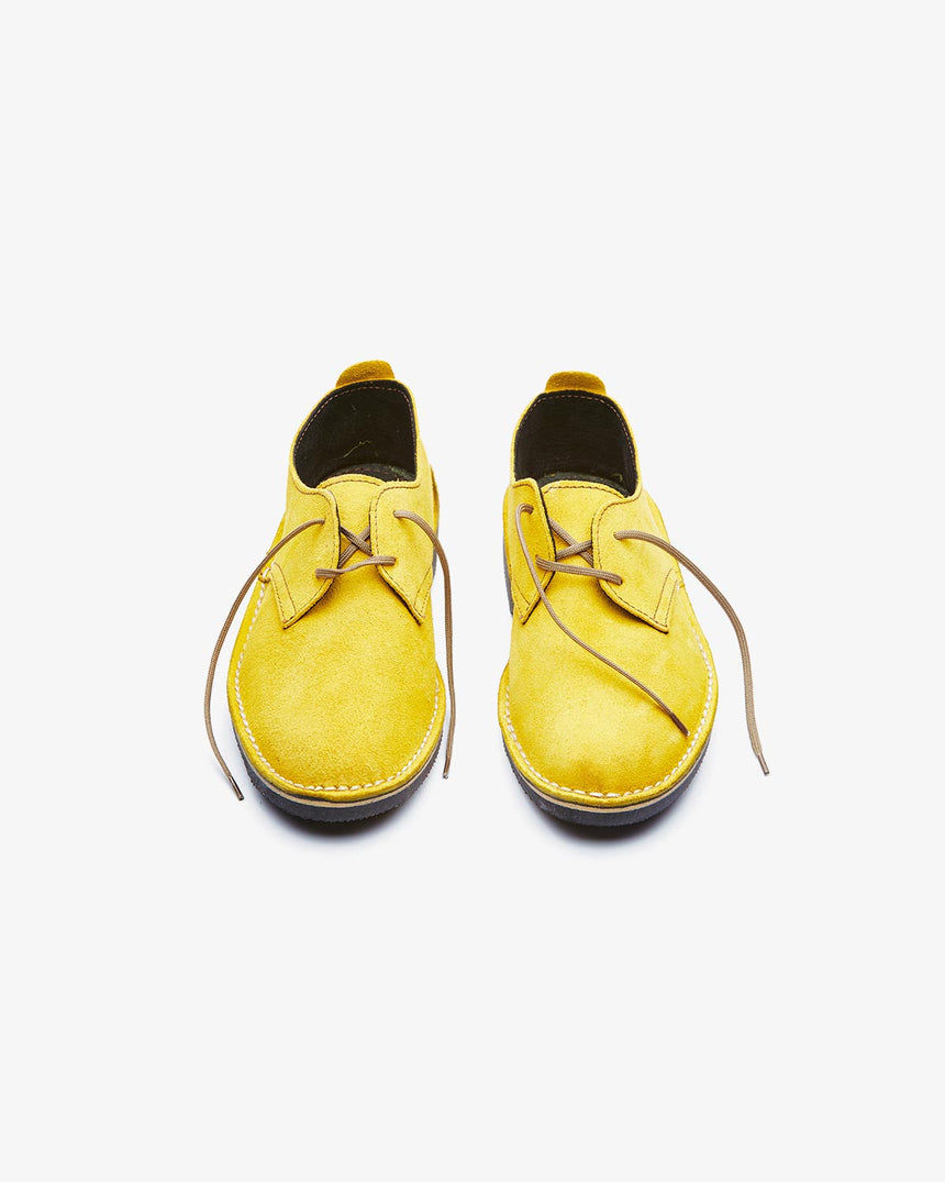 LEONIE | Low-Cut Yellow Suede