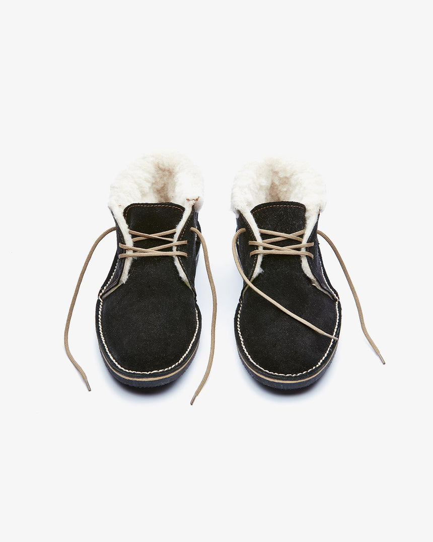 LEONIE | Low-Cut Black Suede
