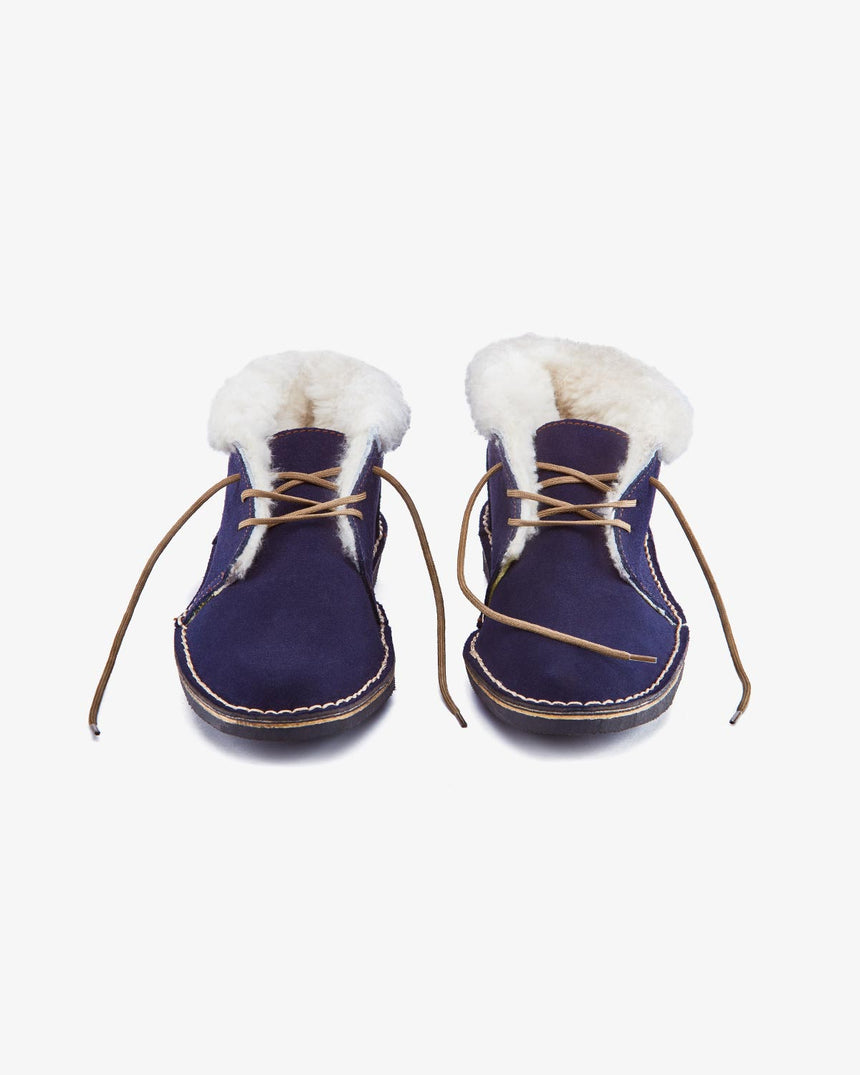 LEONIE | Low-Cut Navy Suede
