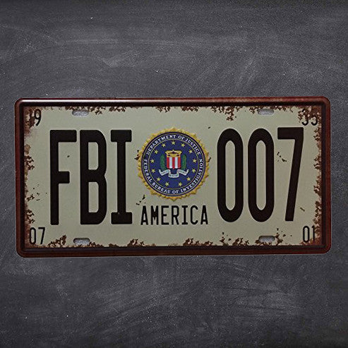 Police Car FBI 007 License Plate Wall Art & Police Car FBI 007 License Plate Wall Art u2013 IDEA 888