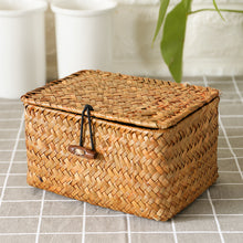Willow Wicker Gift Box Plant Pot Case Succulent Container Flower Planter Orange