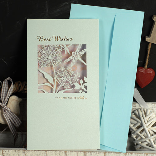 Greeting Gift Card with Envelope : Best Wishes