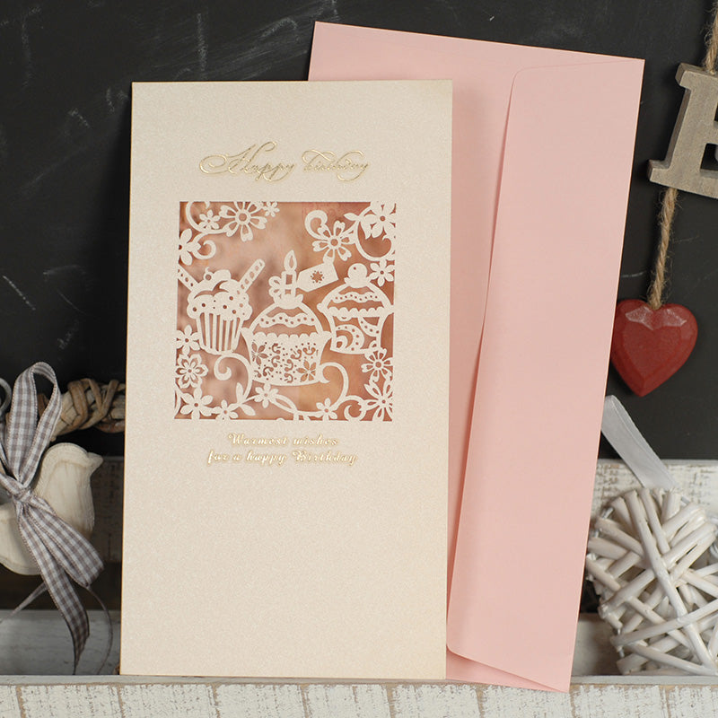 Greeting Gift Card with Envelope : Happy Birthday