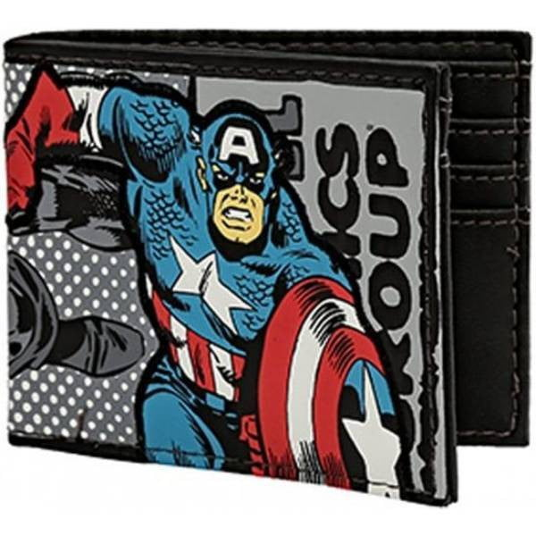 Marvel Captain America Bi-fold Wallet - Officially Licensed - Stack The Cards - [variant_title]