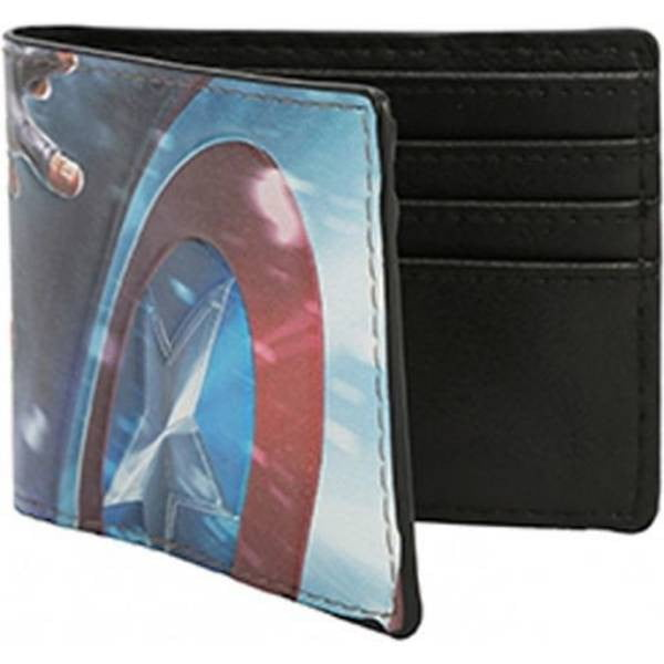 Captain America Mens Bi-fold Wallet - Officially Licensed