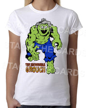 Incredible Grouch - Womens White T-Shirt - Geek Retro Fun Kitsch Cute - Stack The Cards - [variant_title]