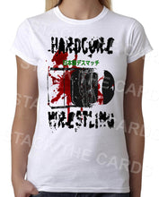 Hardcore Death Match Wrestling - Womens White T-Shirt - Geek Retro Fun Kitsch Cute - Stack The Cards - [variant_title]