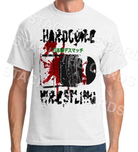 Death Match Hardcore Wrestling - Geek Retro Fun Kitsch - Unisex White T-Shirt - Stack The Cards - [variant_title]