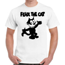 Felix The Cat - Geek Retro Fun Kitsch - Unisex White T-Shirt - Stack The Cards - [variant_title]