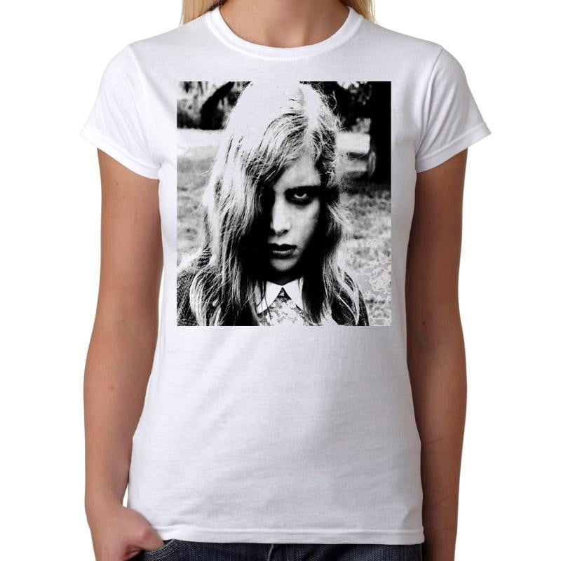 Night Of The Living Dead Zombie Girl - Womens White T-Shirt - Geek Retro Fun Kitsch Cute - Stack The Cards - [variant_title]