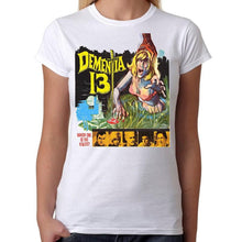 Dementia 13 Horror Movie - Womens White T-Shirt - Geek Retro Fun Kitsch Cute - Stack The Cards - [variant_title]