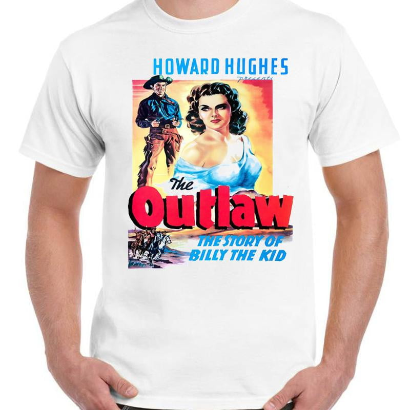 The Outlaw Billy The Kid - Unisex White T-Shirt - Geek Retro Fun Kitsch - Stack The Cards - [variant_title]