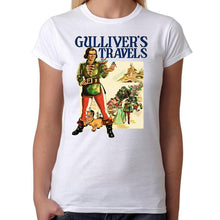 Gulliver's Travels - Womens White T-Shirt - Geek Retro Fun Kitsch Cute - Stack The Cards - [variant_title]